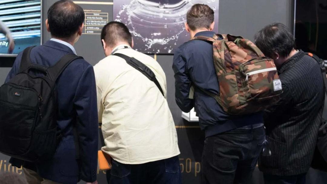 The Panasonic GH5 on display at Photokina 2016