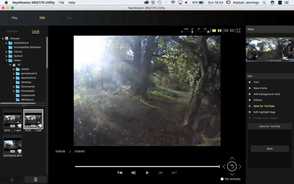 Nikon KeyMission 360/170 Utility - Save For YouTube