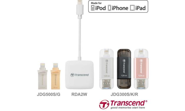 Transcend launches Lightning range of storage for iOS devices