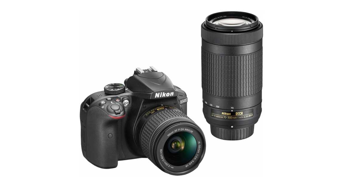 Daily Deal: get this Nikon D3400 + 18-55mm + 70-300mm lens kit for $650