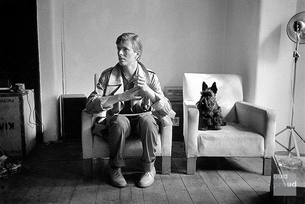 David Bowie with Scottie Dog, London 1980 Photo Duffy © Duffy Archive
