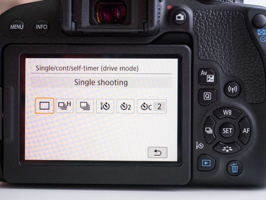 Canon EOS 800D guided mode