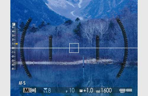 Fuji GFX features: 04 3D Electronic Level