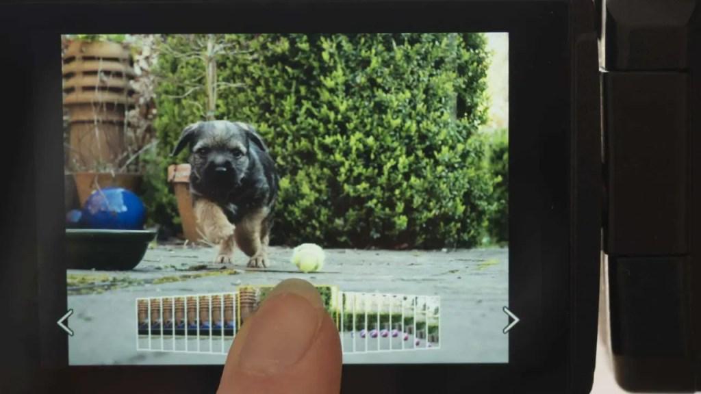GH5 6K Photo scrolling screen