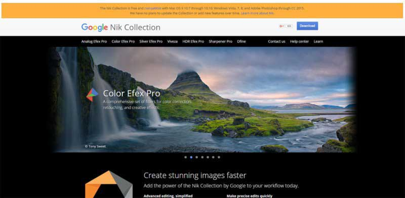Google to no longer update Nik Collection editing software