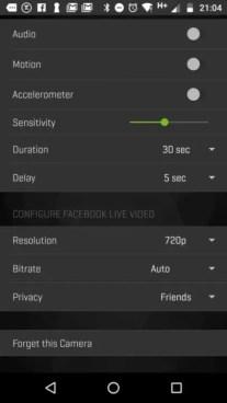 360Fly 4K Review: App Settings 3