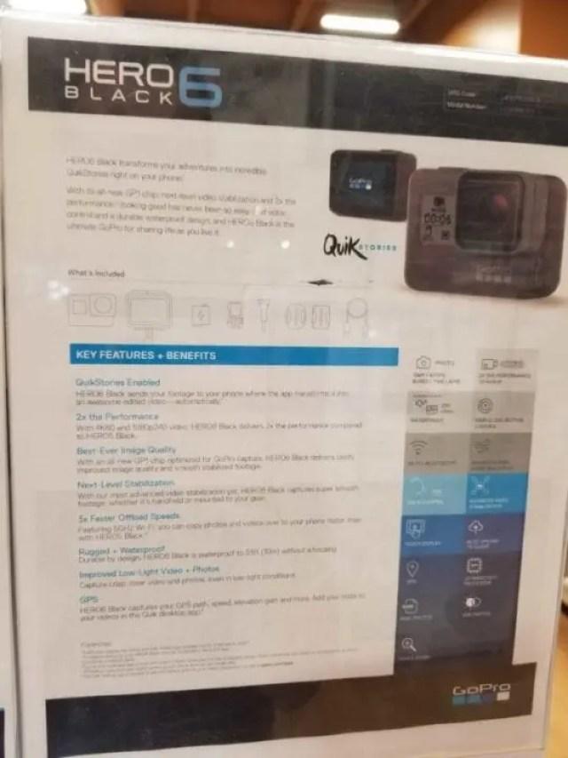 Leaked GoPro Hero6 specs image