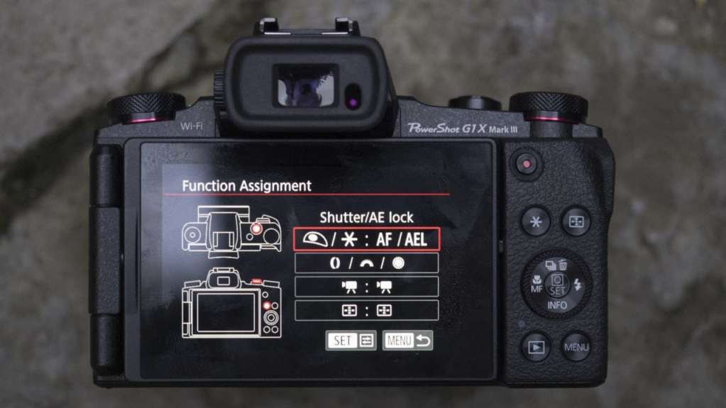 PowerShot G1 X Mark III review: customise screen