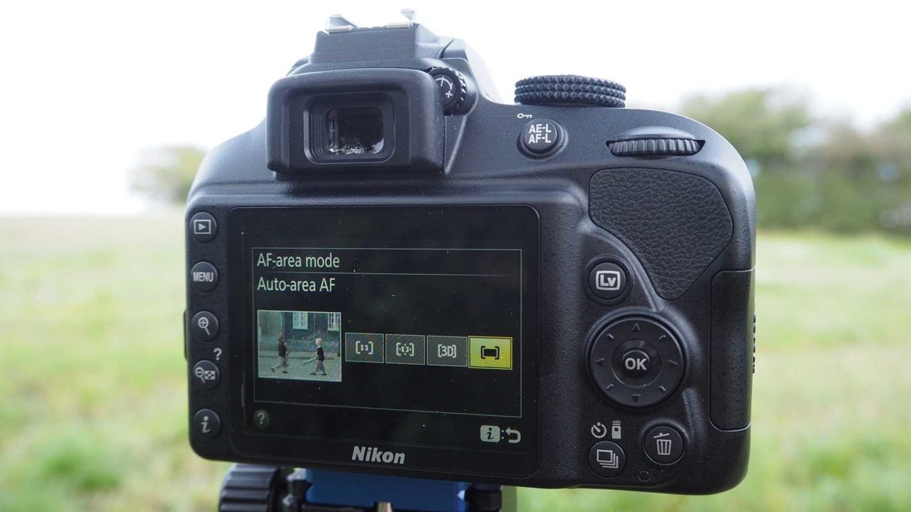 What are the Nikon D3400's focus modes?