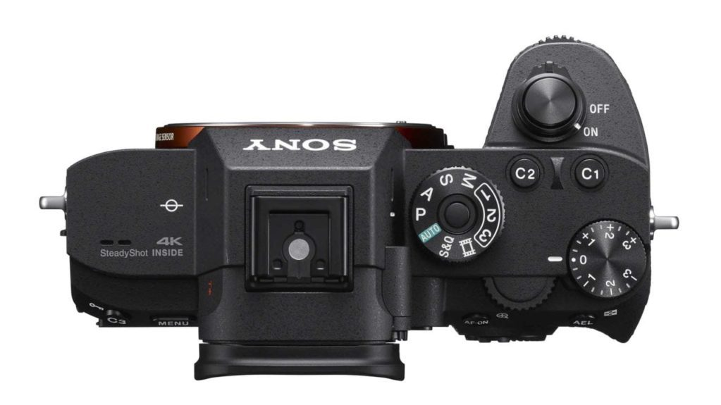 Sony A7R III Review: Camera top
