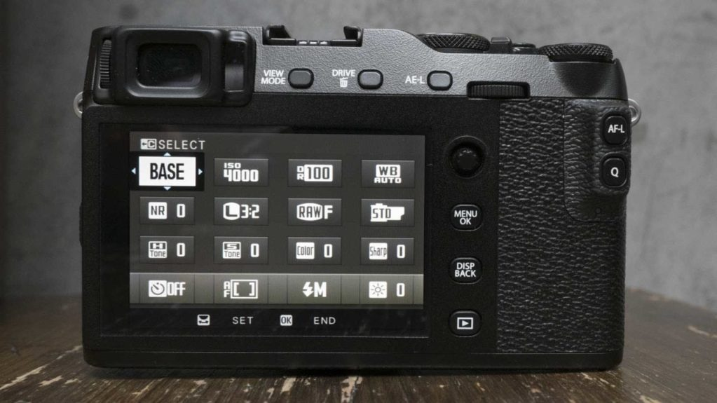 Fujfilm X-E3 Review Function Menu