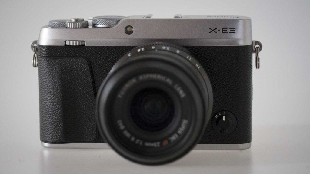 Fujfilm X-E3 Review front of the camera