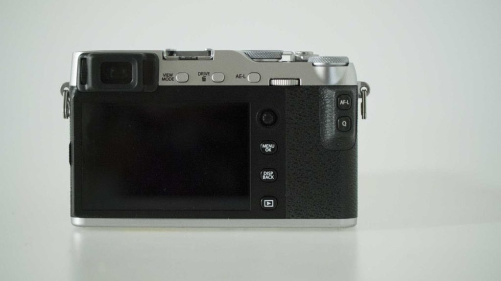 Fujfilm X-E3 Review Rear of the camera