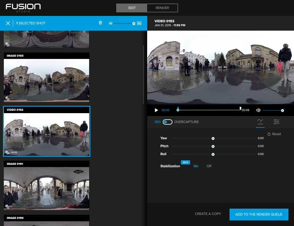 GoPro Fusion Review: Using GoPro Fusion Studio 1.0