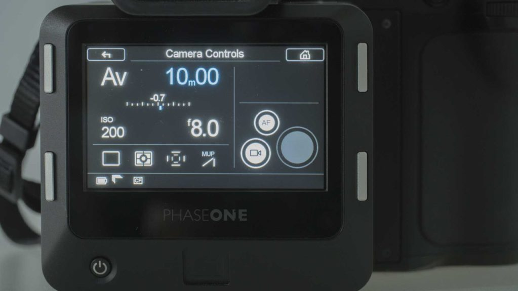 Phase One XF IQ3 Achromatic Review: Main screen
