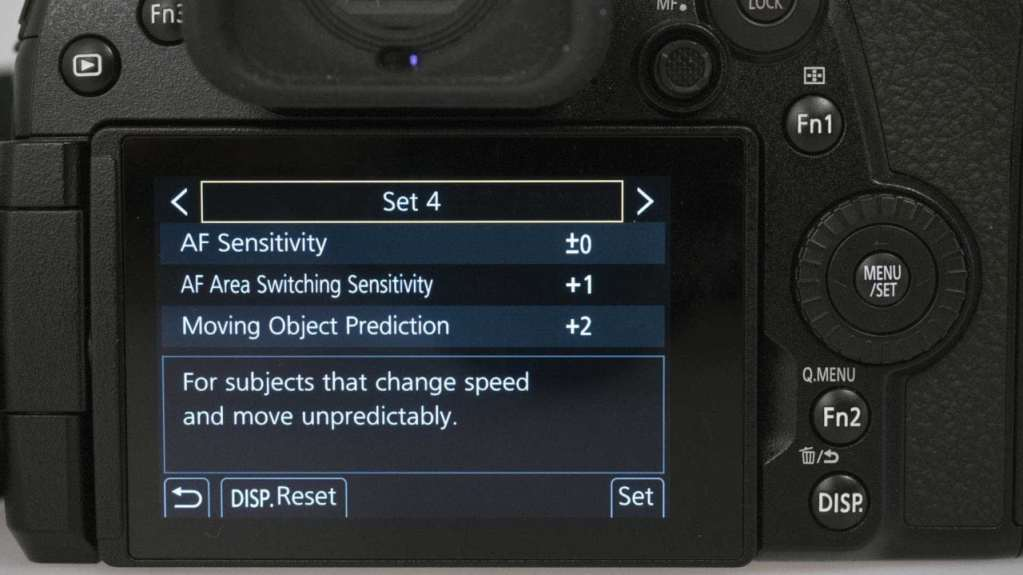 Panasonic Lumix G9: AF Custom Setting (Photo)