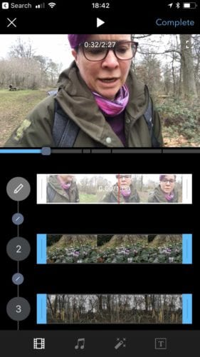 DJI Osmo Mobile 2 Review: Screen grab of the Go Editor