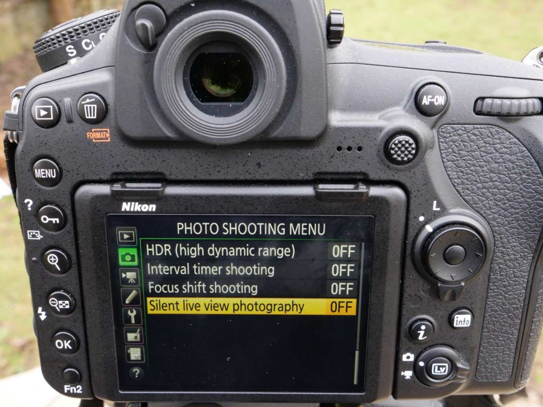 How to set the quiet shutter on the Nikon D850