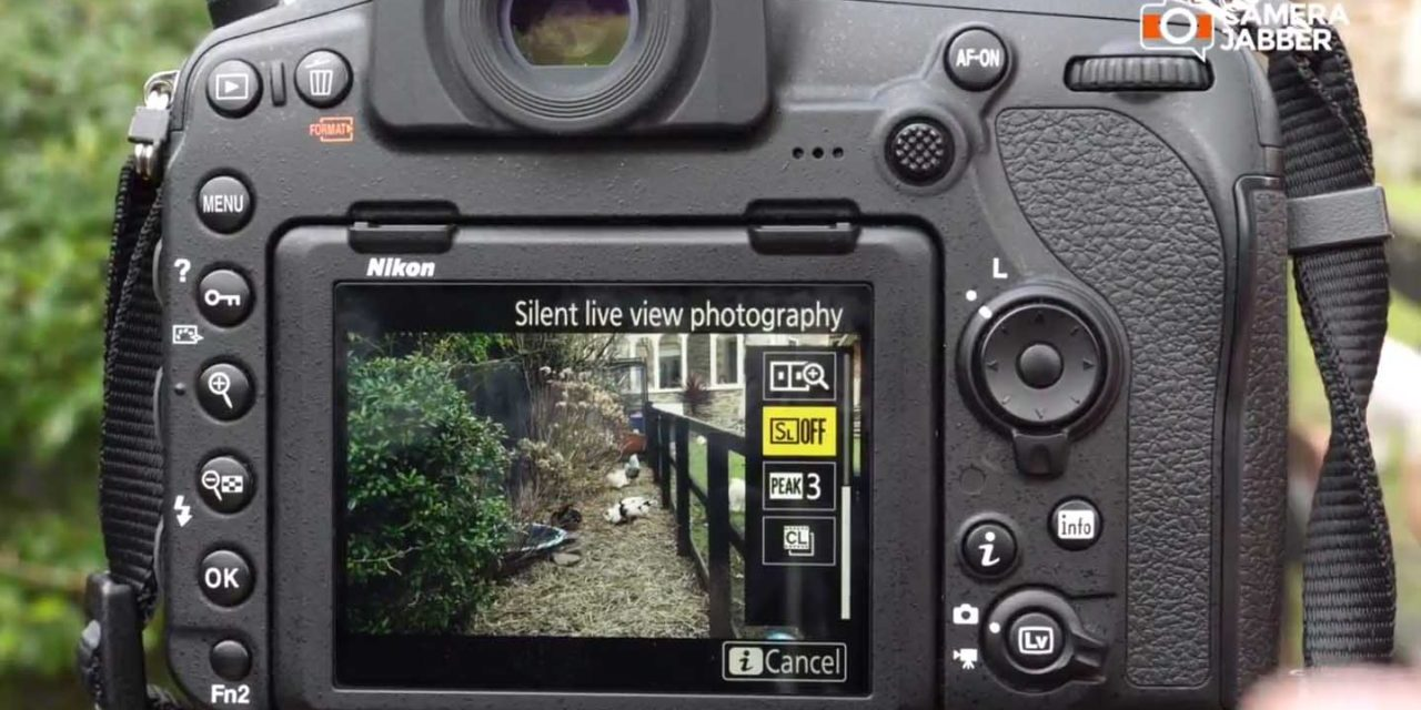 Nikon D850 quiet mode: how to set up Silent Live View Photography