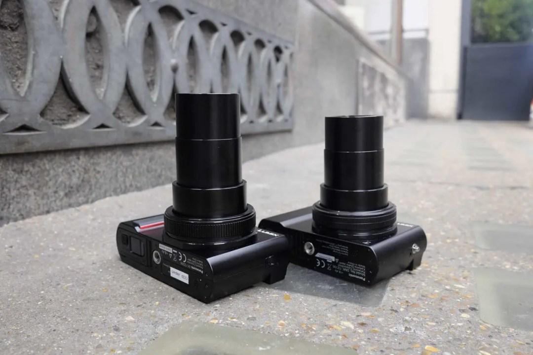 Panasonic TZ200 vs TZ100: lens
