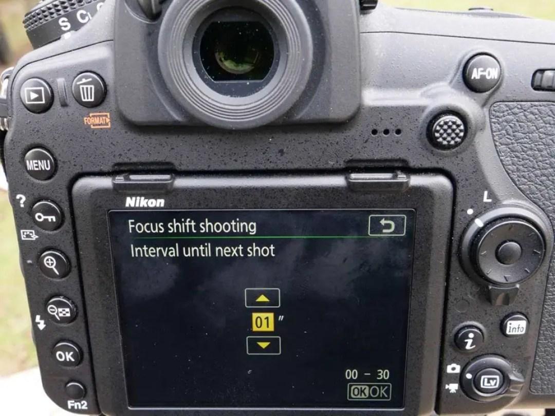 Nikon 850 Focus Shift: 02 Set the interval
