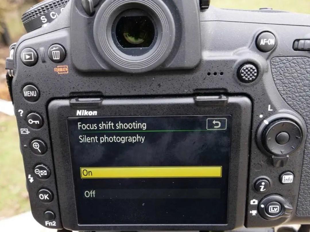 Nikon 850 Focus Shift: 02 Set silent photography