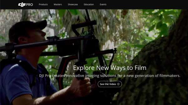 DJI unveils new Pro website for filmmakers