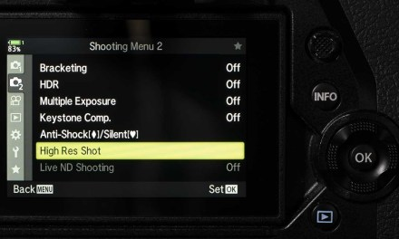 How do you use Olympus High Res Shot Mode?