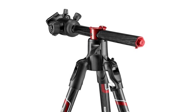 Manfrotto BeFree GT XPRO features built-in 90-degree column