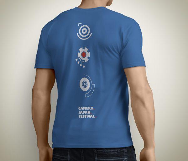 Camera Japan 2021 T-shirt Male Royal Blue Back Mechanical