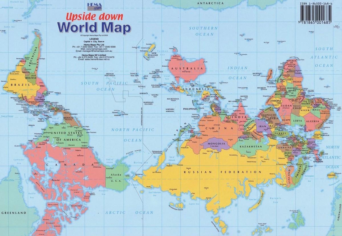 Карта мира для Австралии
