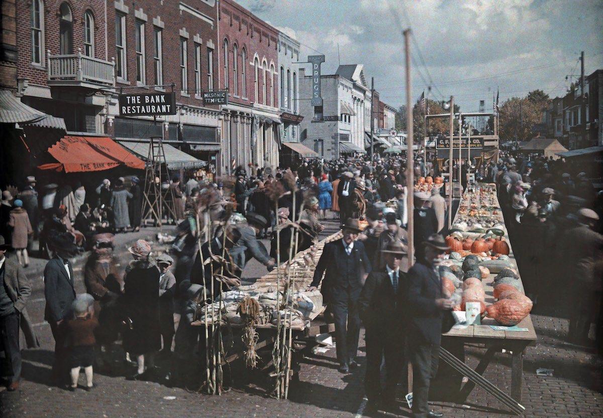 США в начале ХХ века - 50 цветных автохромных фотографий - 21