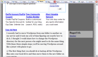 800x600 view of the second scrolled page down on the WordPress Support page