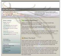 Example from CSS Zen Garden - visit for inspiration.external site