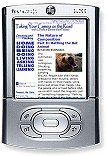 View of a web page on a handheld computer