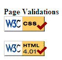 With the CSS code, the linked graphic loses the box around it, looking clean and simple.