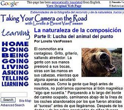 one of our web pages translated into Spanish by Google Translate