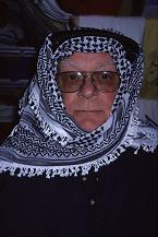 Howard West, father of Lorelle, dresses up like a Palestinian. Photo by Lorelle VanFossen