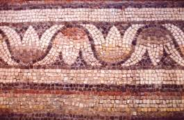 Ancient mosaic floor, Eretz Museum, photo by Brent VanFossen
