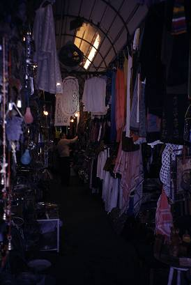 Photo by Lorelle VanFossen, some shops, like this in Jaffa, are dark and scary.