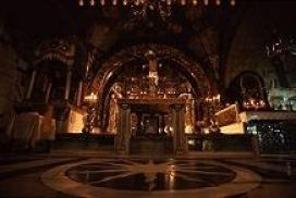 Christains honor the Church of the Holy Sepulcher as one of the most holy sites in the world. The Altar where the cross is claimed to have stood. Photo by Brent VanFossen