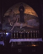 Altar of the crucification in the Holy Sepulchre in Jerusalem, photograph by Brent VanFossen