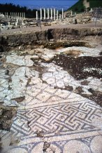 Floor of the ancient city ruins of Meggido, photo by Lorelle VanFossen