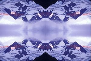 Matanuska Glacier Alpenglow III photoquilt, photo by Brent VanFossen