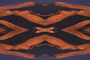 Desert Hills photoquilt I, photo by Brent VanFossen