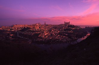 Sunrise on Toledo, Spain, photograph by Brent VanFossen