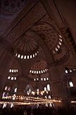Inside the famous Blue Mosque of Instanbul, photo by Brent VanFossen