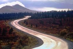 Road through Alaska, photo by Lorelle VanFossen