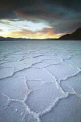 Sunrise over the salt flats of Death Valley, photo by Brent VanFossen
