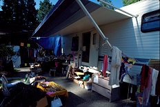 One of our six garage sales. Photo by Brent VanFossen